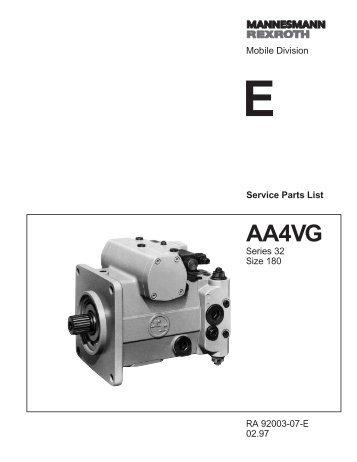 AA4VG180 Series 32 - DDKS Industries, hydraulic components ...