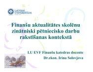 Finanšu aktualitātes skolēnu zinātniski pētniecisko darbu ... - EVF