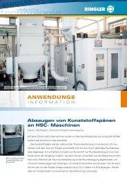 Absaugen von Kunststoffspänen an HSC - Maschinen