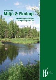Miljö & Ekologi - Hushållningssällskapet Rådgivning Nord