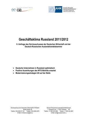 Geschäftsklima Russland 2011/2012 - spb-hamburg.de