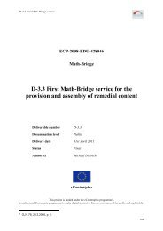 D-3.3 First Math-Bridge service for the provision and assembly of ...