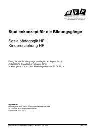 Studienkonzept 5. Ausgabe - BFF Bern
