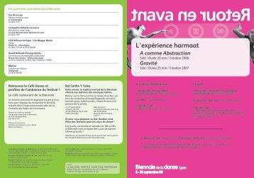 programme (pdf) - Biennale de Lyon en 2008