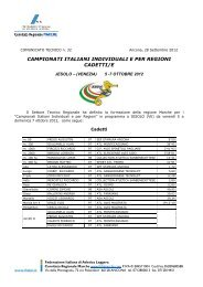 Comunicato n. 32/2012 - ASA Ascoli