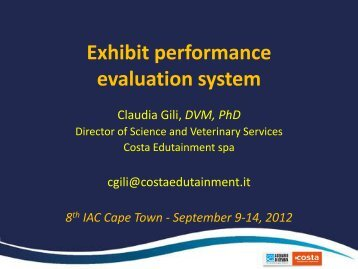 Exhibit performance evaluation system - International Aquarium ...