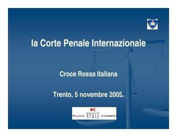 la Corte Penale Internazionale - CRI Trentino