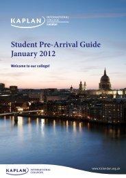 Student Pre-Arrival Guide January 2012 - Kaplan International ...