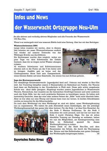 Infos und News 7 - Wasserwacht Ortsgruppe Neu-Ulm