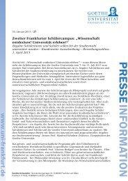 www .uni-frankfurt.de - Schülercampus - Goethe-Universität