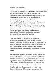 Merkblatt zur Aurapflege Seit einigen Jahren ... - Heidemarie Sewe