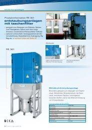 entstaubungsanlagen mit taschenfilter
