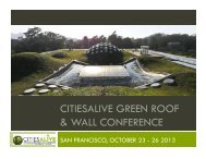 citiesalive green roof & wall conference - Green Roofs for Healthy ...