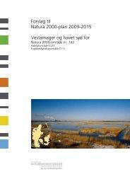 Forslag til Natura 2000-plan 2009-2015 ... - Naturstyrelsen