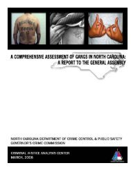 Report to the North Carolina General Assembly on criminal gangs ...