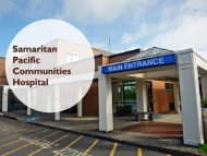 Samaritan Pacific Health Services Clinics Primary Clinics