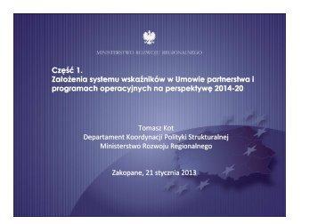 System wskaźników - Ministerstwo Rozwoju Regionalnego