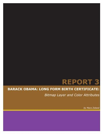REPORT 3 BARACK OBAMA: LONG FORM ... - American Thinker