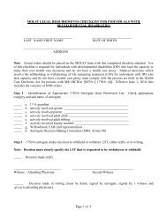 Page 1 of 3 MOLST LEGAL REQUIREMENTS CHECKLIST FOR ...