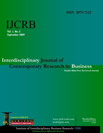 Download - Interdisciplinary Journal of Contemporary Research