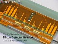 Silicon Detector Readout - HEPHY