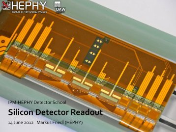 Silicon Detector Readout - HEPHY