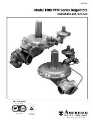 Model 1800 PFM Series Regulators - Miners & Pisani, Inc.