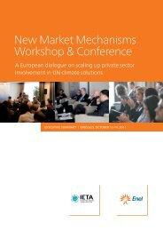 New Market Mechanisms Workshop & Conference - International ...