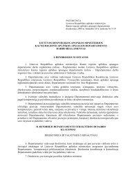 Departamento darbo reglamentas - Kauno regiono aplinkos ...