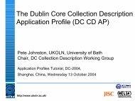 English - Dublin Core® Metadata Initiative