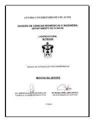 Medicina del Deporte - Centro Universitario de los Altos