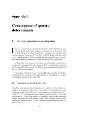 Appendix I Convergence of spectral determinants - ChaosBook