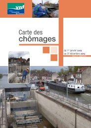 French waterways works in 2012 tables - Voies navigables de France
