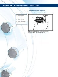 RINGFEDER® Schrumpfscheiben · Shrink Discs
