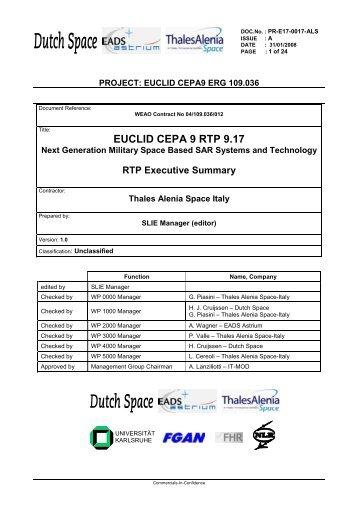 Executive Summary Space BaSAR - European Defence Agency