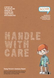 Handle with Care - Scotland's Commissioner for Children and ...