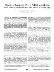 Quality of service in IP over WDM: considering both ... - IEEE Xplore