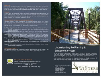 Understanding the Planning & Entitlement Process - City of Winters