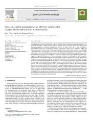 Journal of Power Sources SnO2–Au hybrid nanoparticles as ... - Chen
