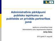 Administratīvie pārkāpumi publisko iepirkumu un publiskās un ...