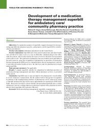 Development of a medication therapy management superbill for ...