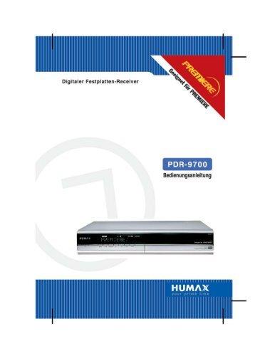 Humax PDR-9700 - AHG-Electronic