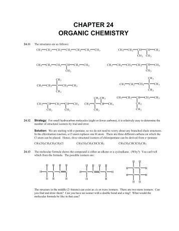 CHAPTER 24 ORGANIC CHEMISTRY