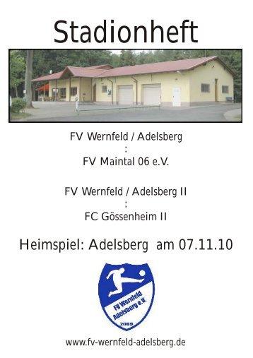 Stadionheft - FV Wernfeld/Adelsberg