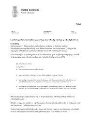Notat - Vurdering av offentlighetsloven og ... - Halden kommune