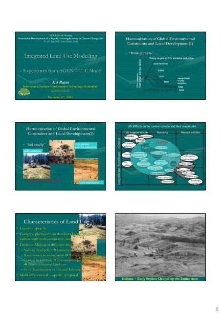 Integrated Land Use Modelling for Urbanization Studies