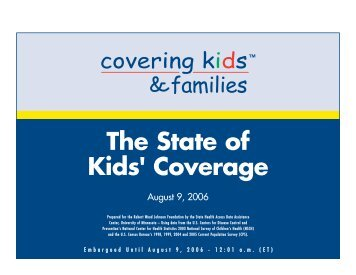 The State of Kids' Coverage - Shadac