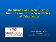 Balancing Long-Term Care in Iowa - Center for State Health Policy ...