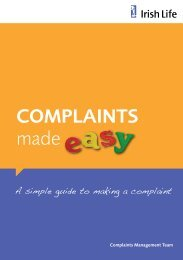View our Complaints Made Easy guide - Irish Life