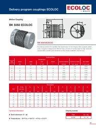 Delivery program couplings ECOLOC BK 5050 ECOLOC - Ringfeder
